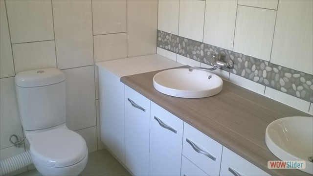 New Basin And Toilet